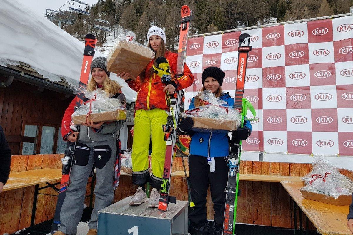 Annette Belfrond seconda Aspiranti nel gigante del Grand Prix Italia di sci alpino a Courmayeur