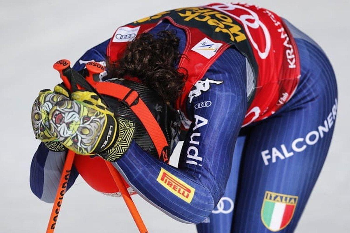 Federica Brignone settima nella discesa di Coppa del Mondo di Crans Montana, in Svizzera, vinta da Lara Gut-Behrami