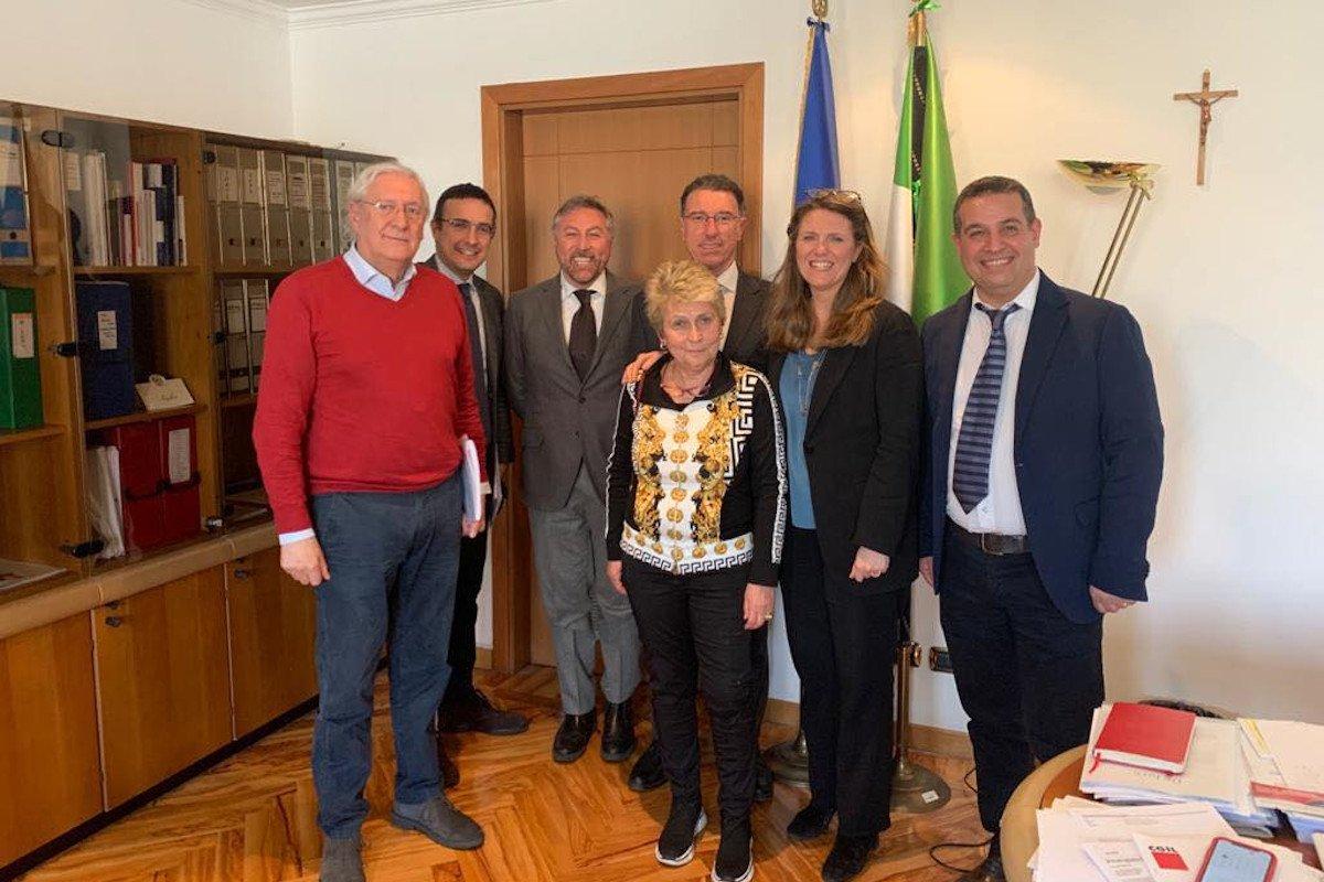 A Roma incontro tra Albert Lanièce e Francesca Puglisi sulle problematiche della crisi dell'edilizia e della Cassa integrazione