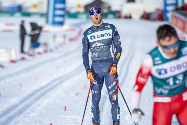Federico Pellegrino all'arrivo nella finale di Trondheim