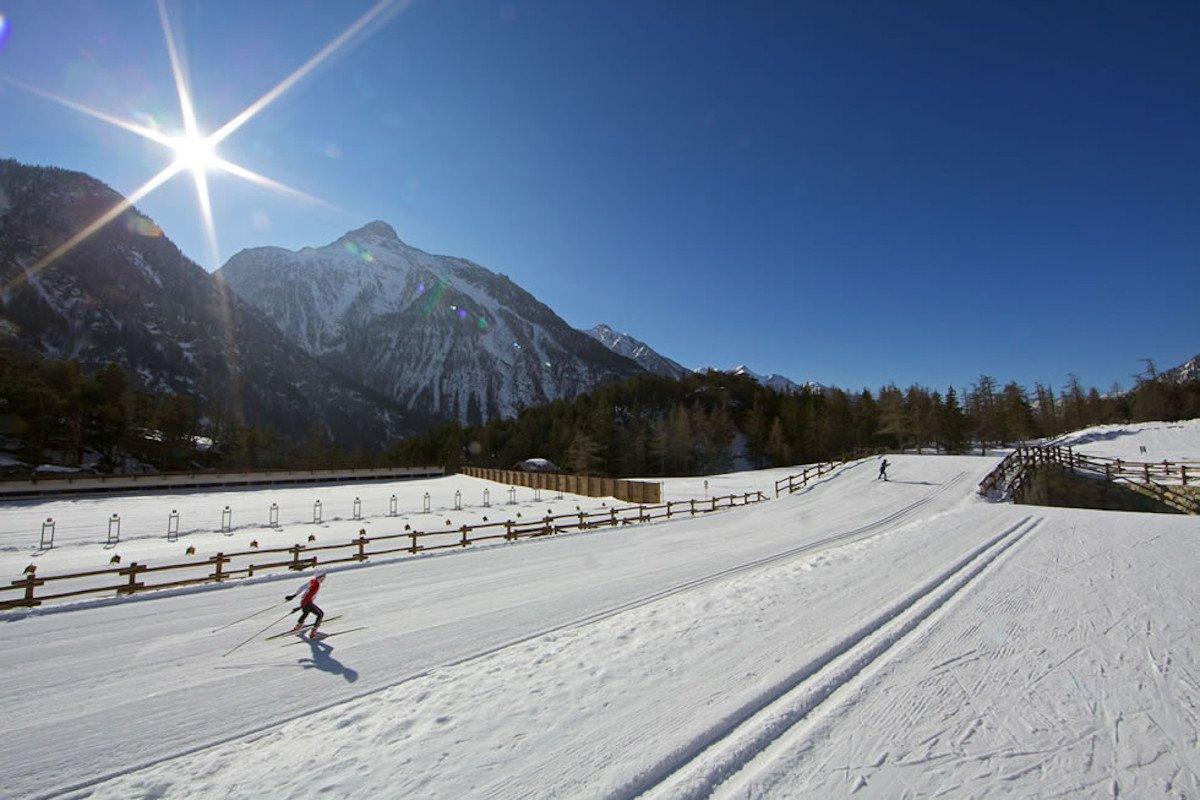 La pista di sci nordico di Bionaz