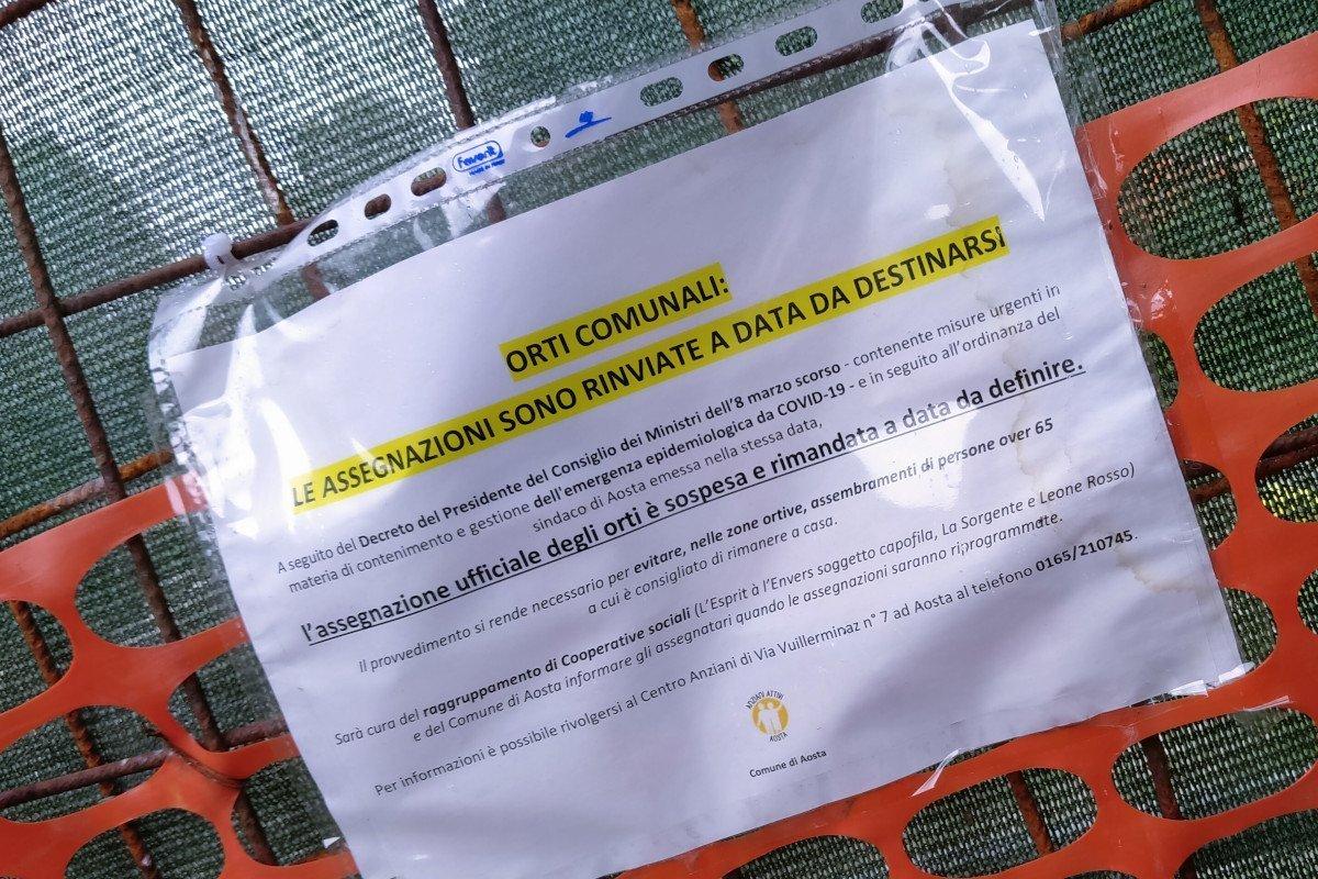 Ad Aosta si ripensa la gestione degli orti comunali: «stiamo sviluppando un piano di sicurezza, ma non ci sarà la libertà di prima» annuncia Luca Girasole