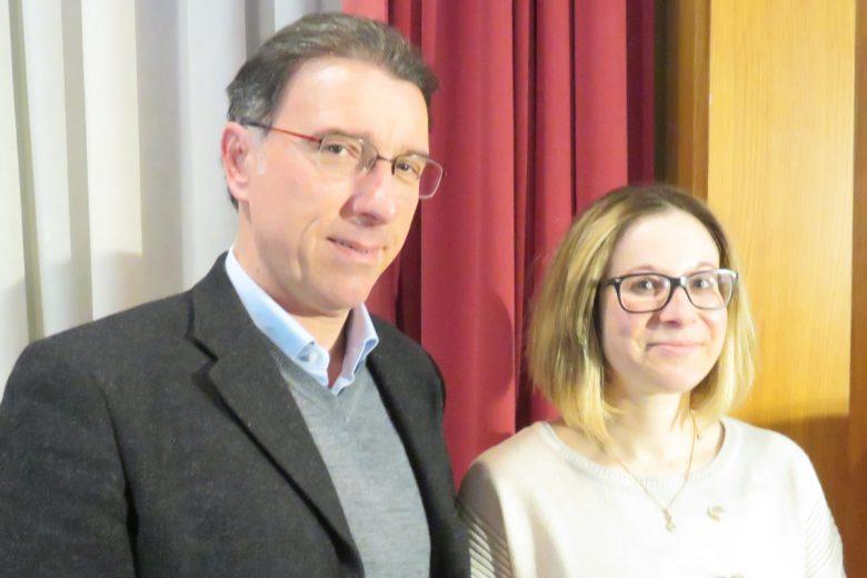 Albert Lanièce ed Elisa Tripodi il giorno della loro elezione, il 5 marzo 2018