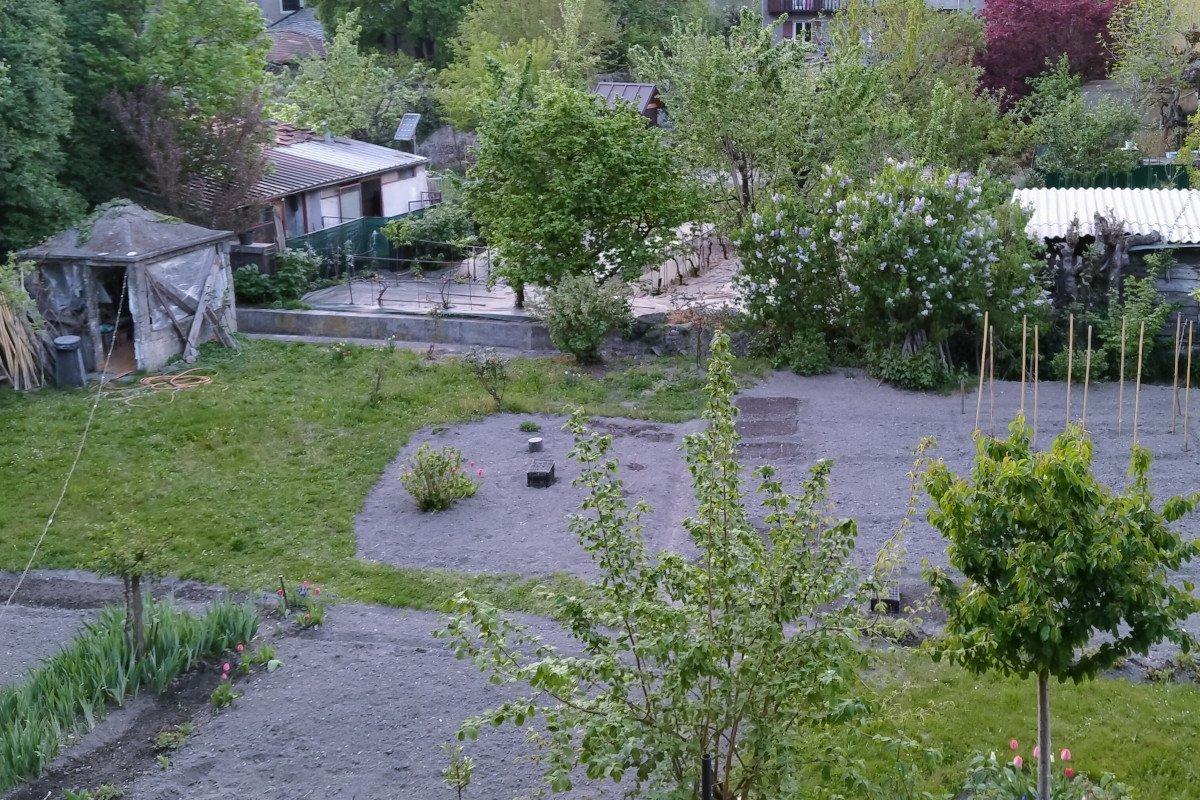 Un orto nel centro storico di Aosta