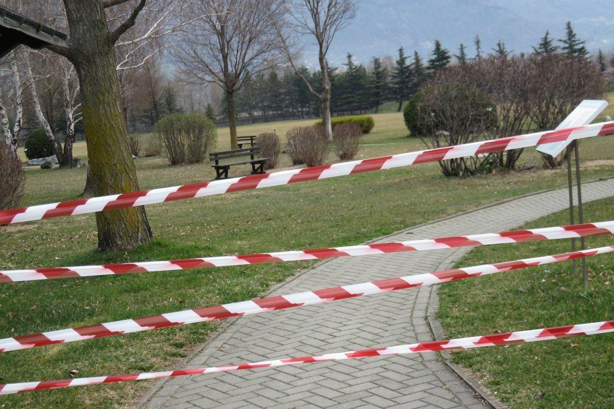 L'area 'Grand Place' a Pollein, chiusa al pubblico