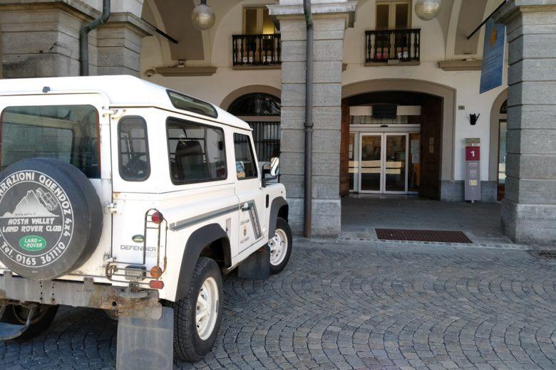 L'ingresso degli uffici di 'Amico in Comune' ad Aosta
