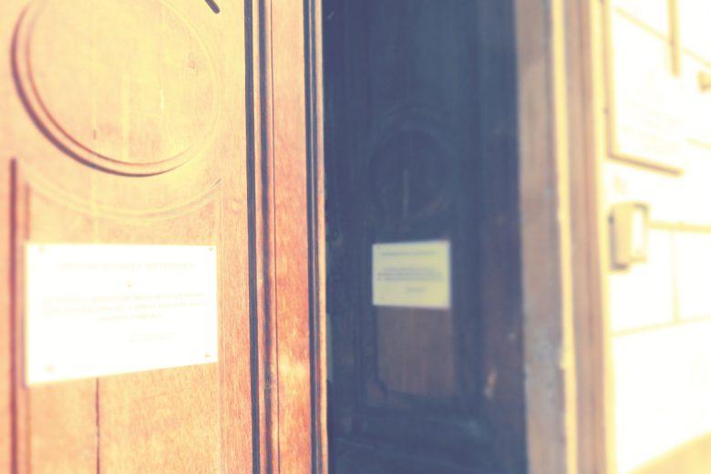L'ingresso della scuola 'San Francesco' di Aosta