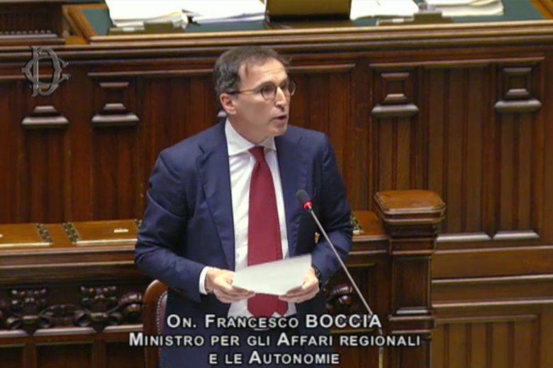 """Il ministro Francesco Boccia durante il 'Question time"""" alla Camera"""