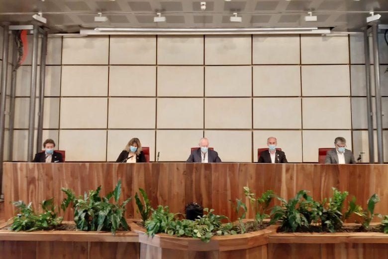 L'inizio della conferenza stampa della Regione del 16 maggio