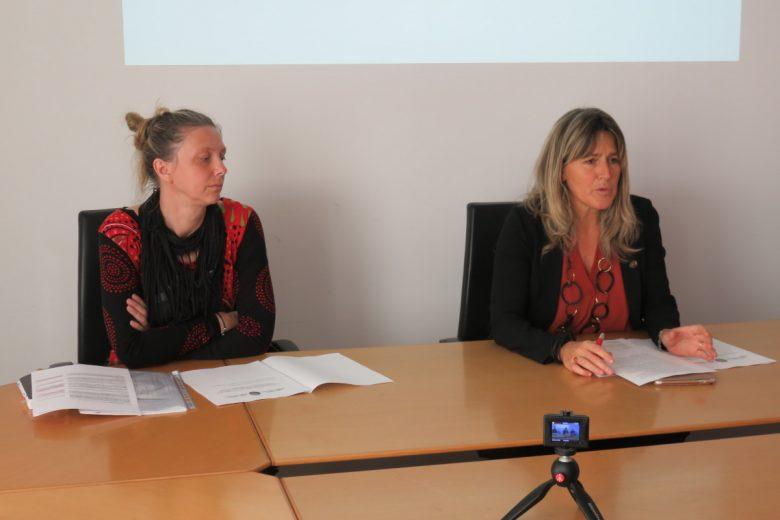 La Sovraintendente agli studi Marina Fey e l'assessore regionale all'istruzione Chantal Certan