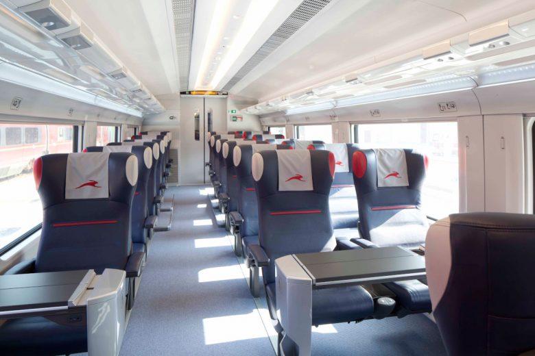 L'ìnterno del treno 'Italo'