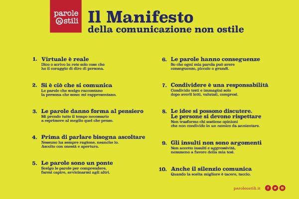 Il Manifesto per la comunicazione non ostile