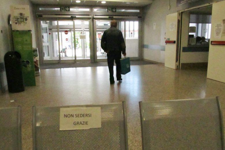 L'ingresso della 'piastra' all'ospedale 'Parini' di Aosta