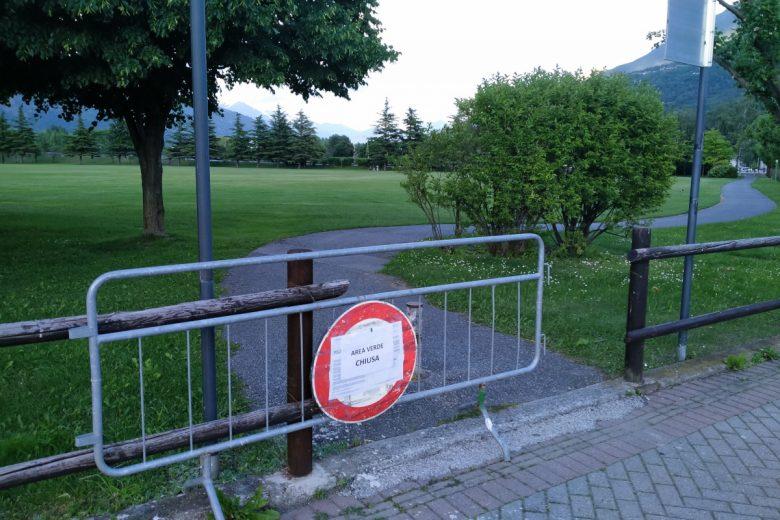 L'area 'Grand Place' di Pollein 'chiusa' al pubblico