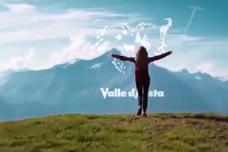 La parte finale dello spot da 15 secondi della Valle d'Aosta