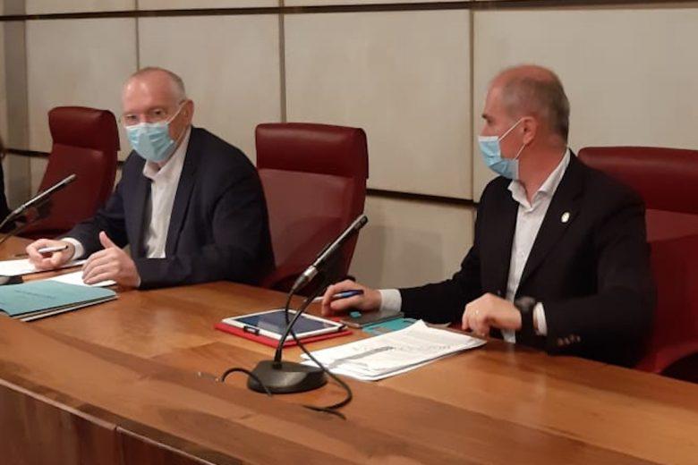 Renzo Testolin ed Albert Chatrian in conferenza stampa