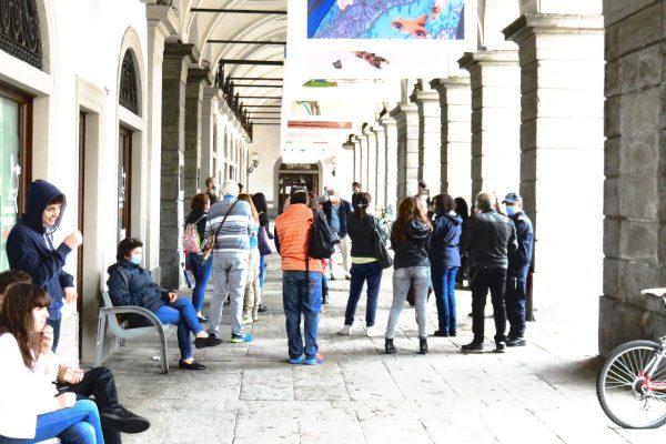 La manifestazione dei 'Professori senza cattedra' valdostani