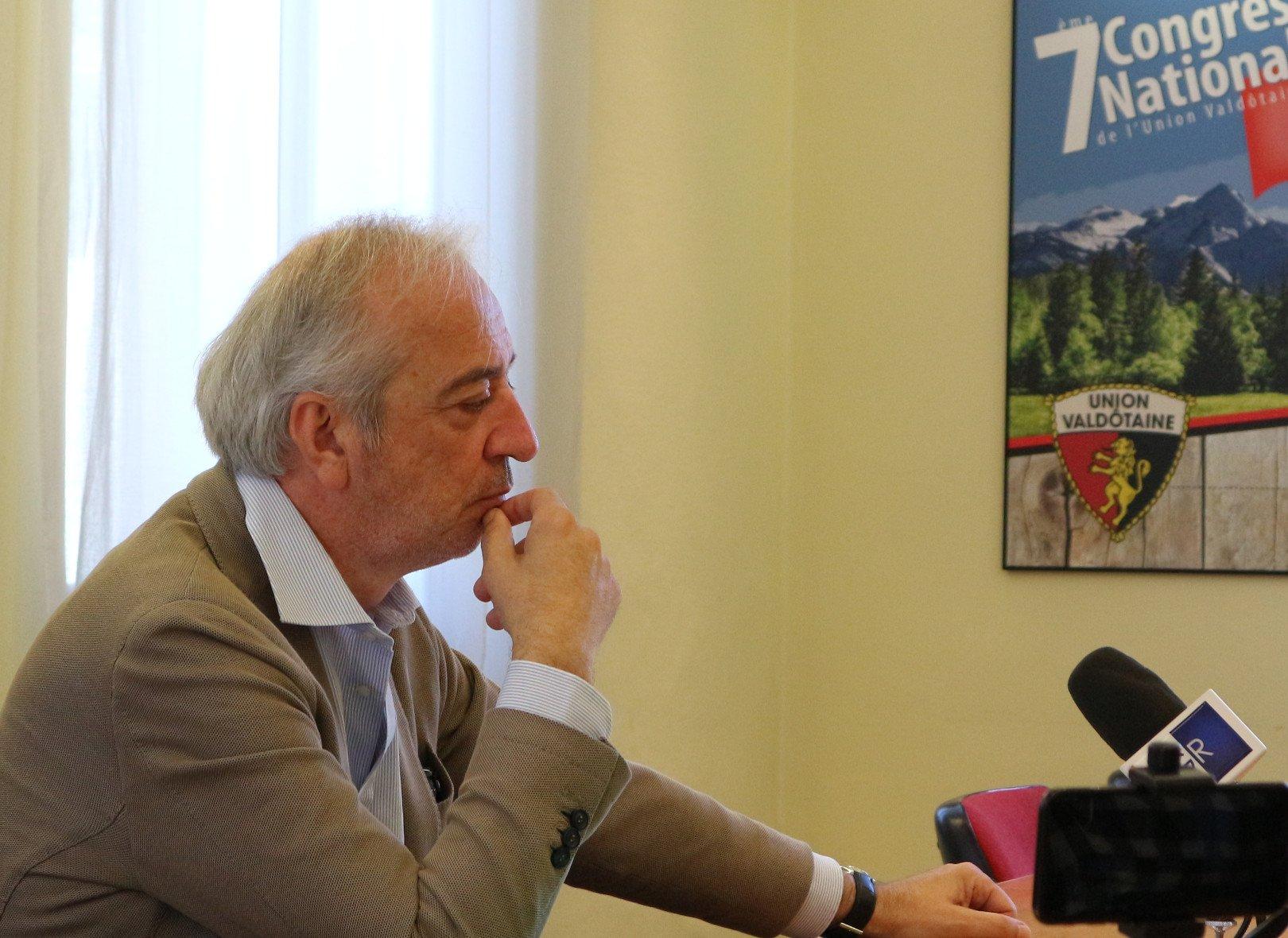 Flavio Peinetti lascia l'Union Valdôtaine: «profondo dissenso dalle decisioni del Mouvement, non mi ricandiderò alle regionali»
