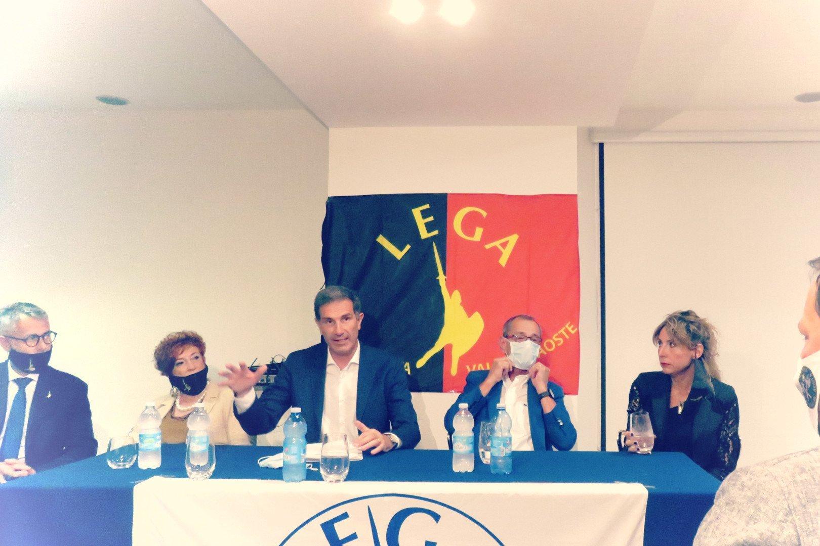 Sergio Togni e Bruno Giordano candidati sindaco e vice per la Lega Vallée d'Aoste: «nessuno ci ha detto cosa scrivere sul programma»
