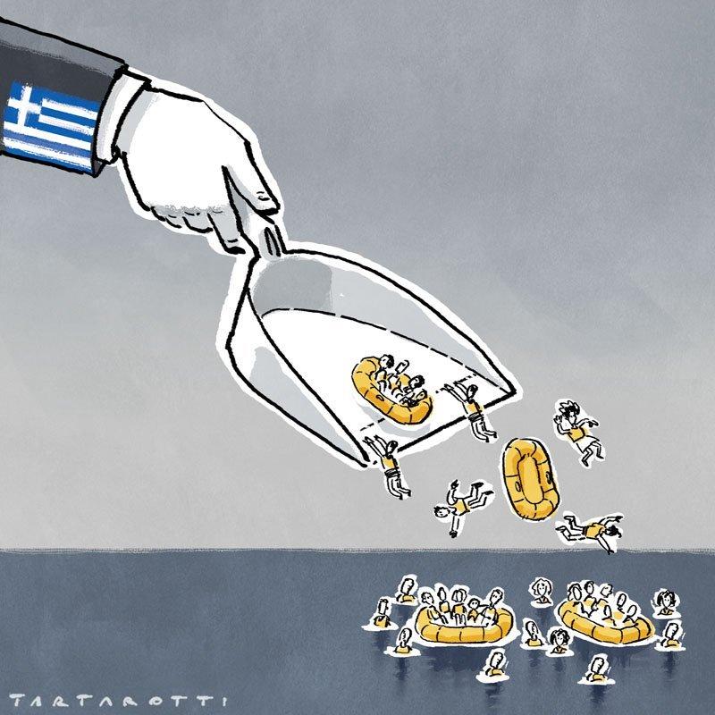I migranti riportati in mare dalla Grecia