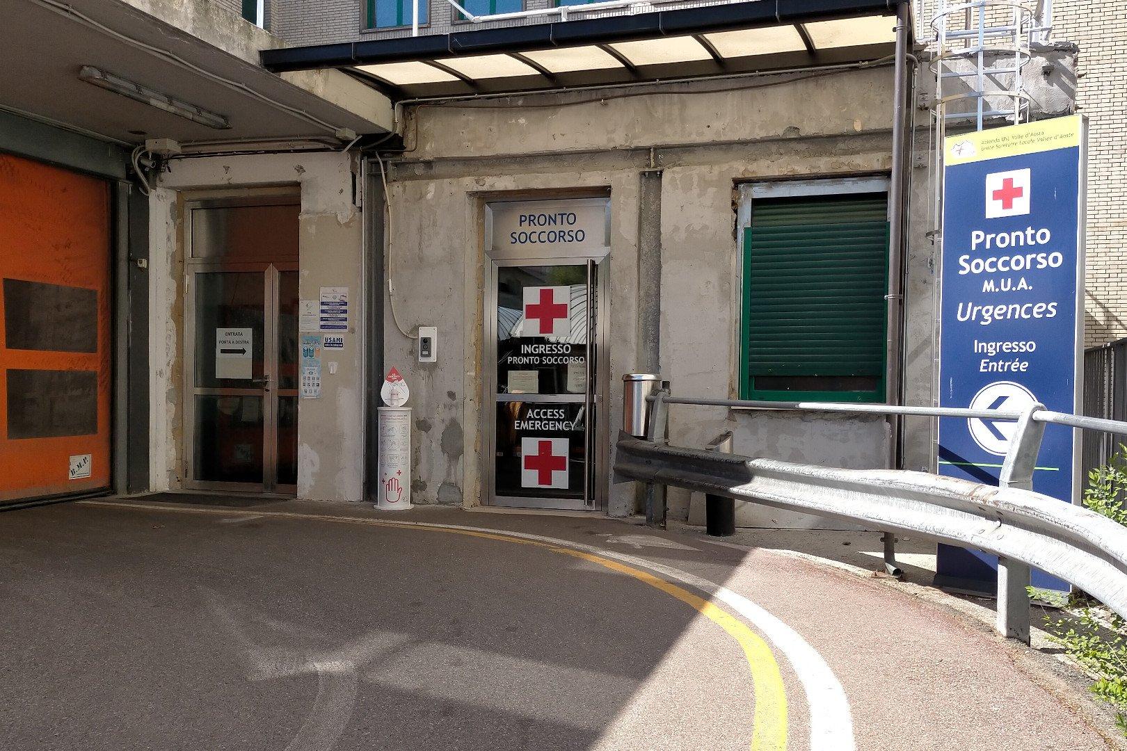 Il Pronto soccorso dell'ospedale 'Parini' di Aosta