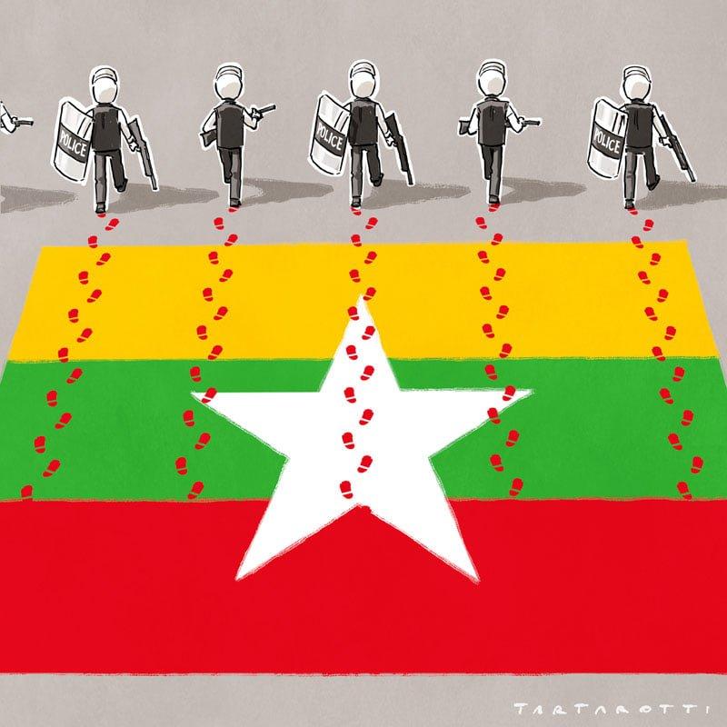 Continua la repressione delle proteste in Myanmar