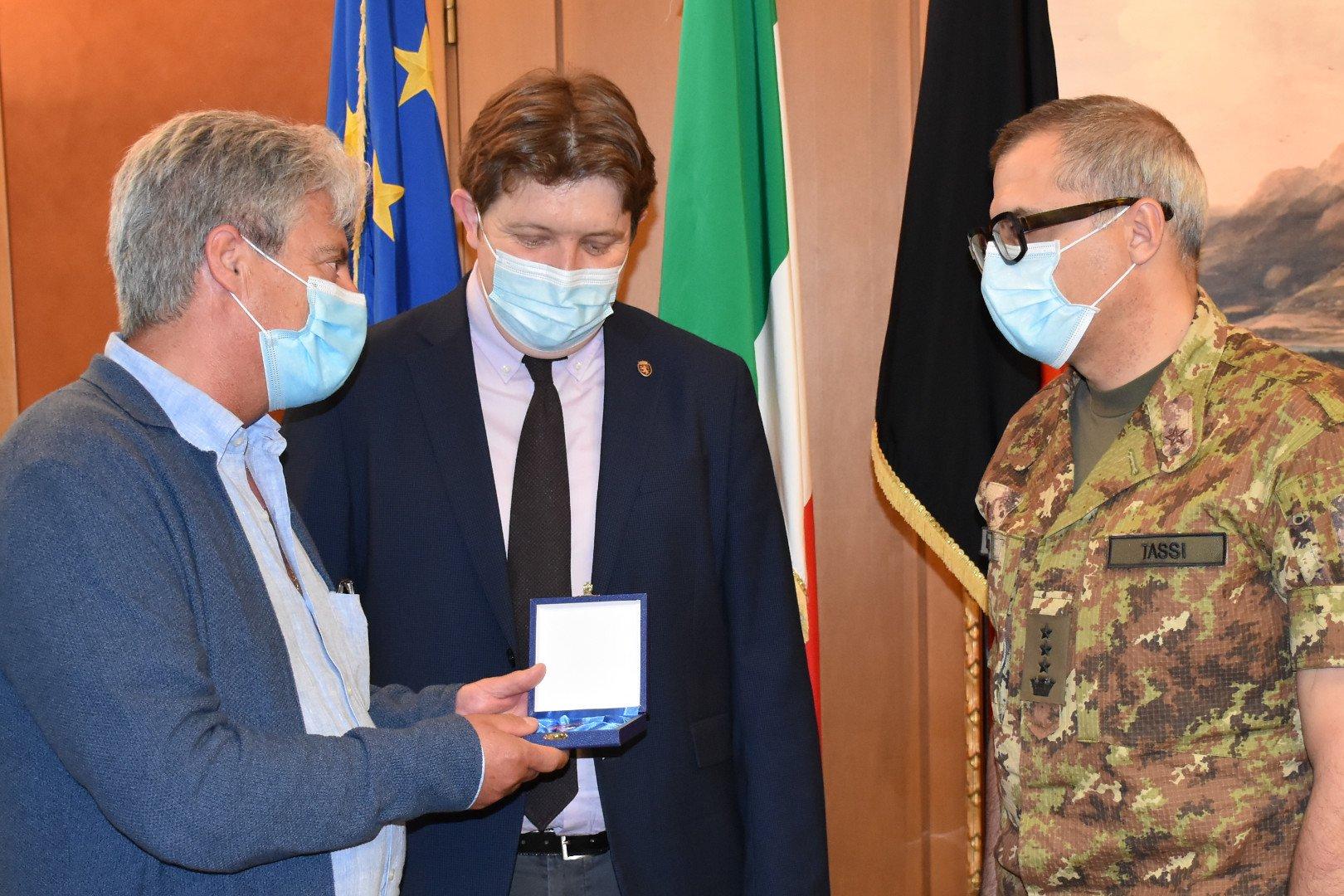 Pio Porretta, Erik Lavevaz ed il Colonnello Alessandro Tassi