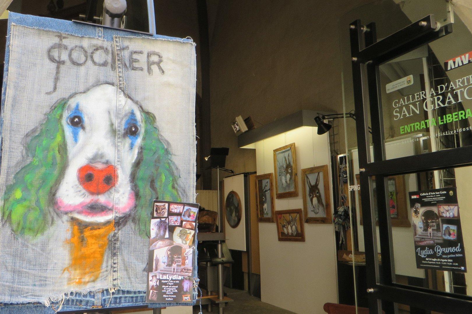 Un'opera di Lydia Brunod in mostra alla Galleria San Grato