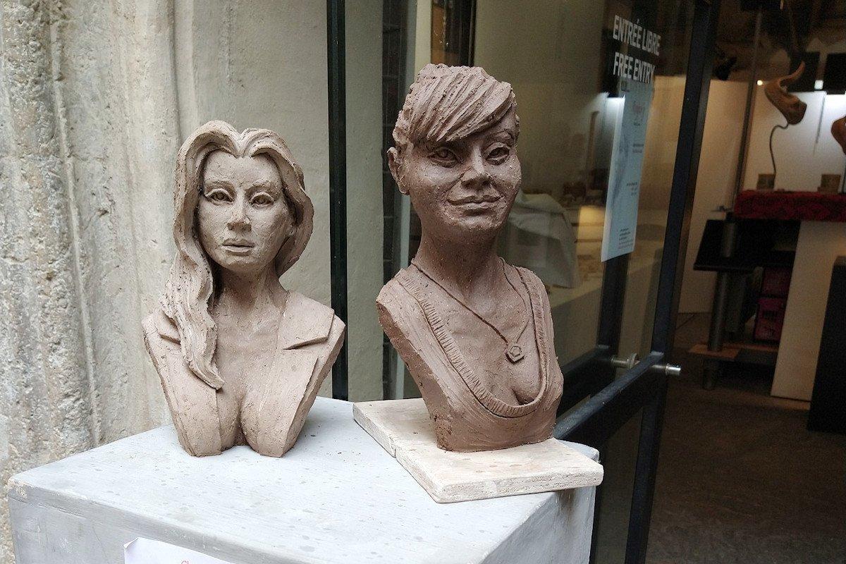Due opere di Fabio Cornaz in una precedente mostra alla Galleria San Grato