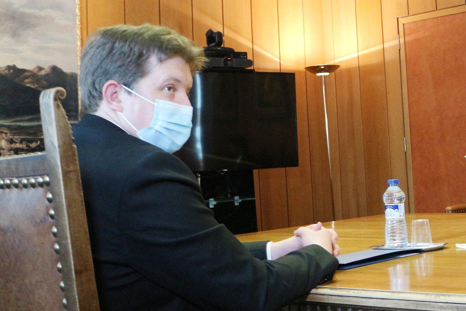 Erik Lavevaz in sala Giunta