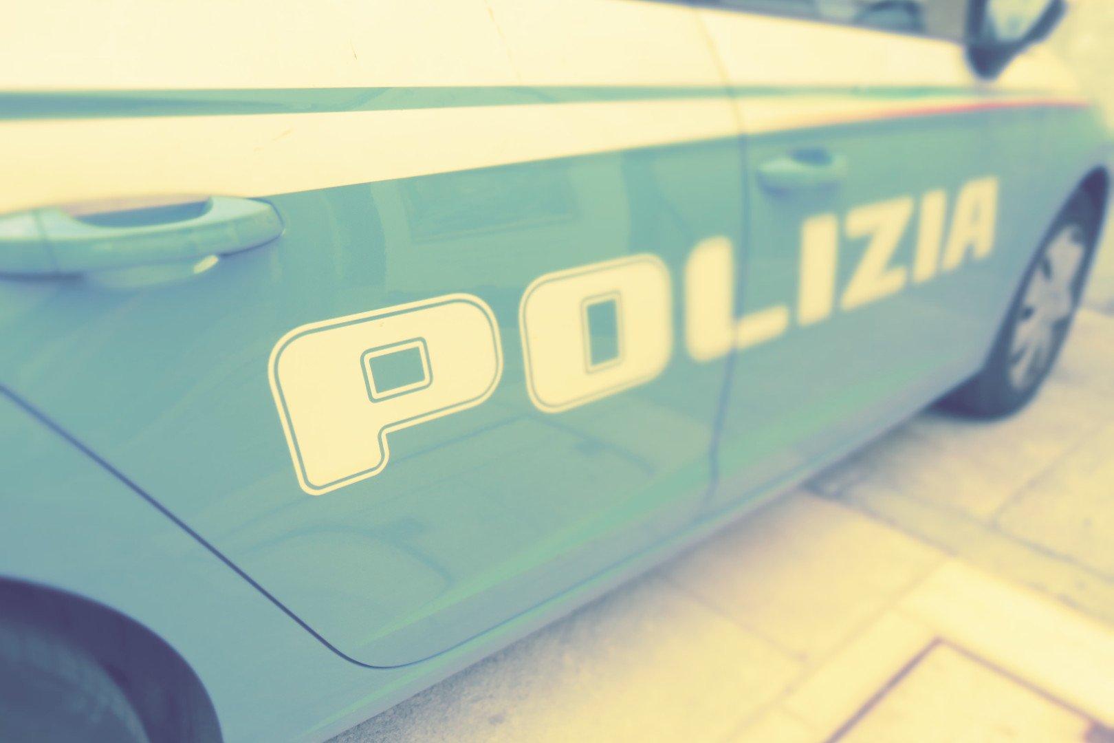 Il dettaglio di una volante della Polizia